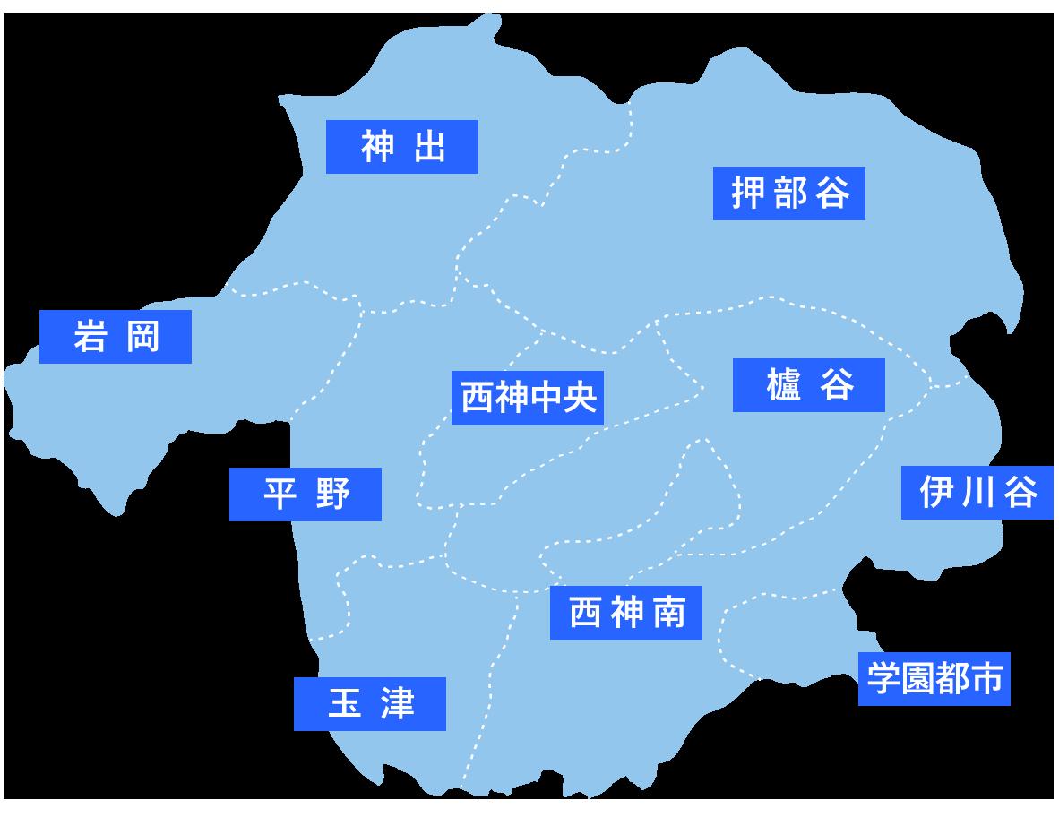 神戸市西区の地図